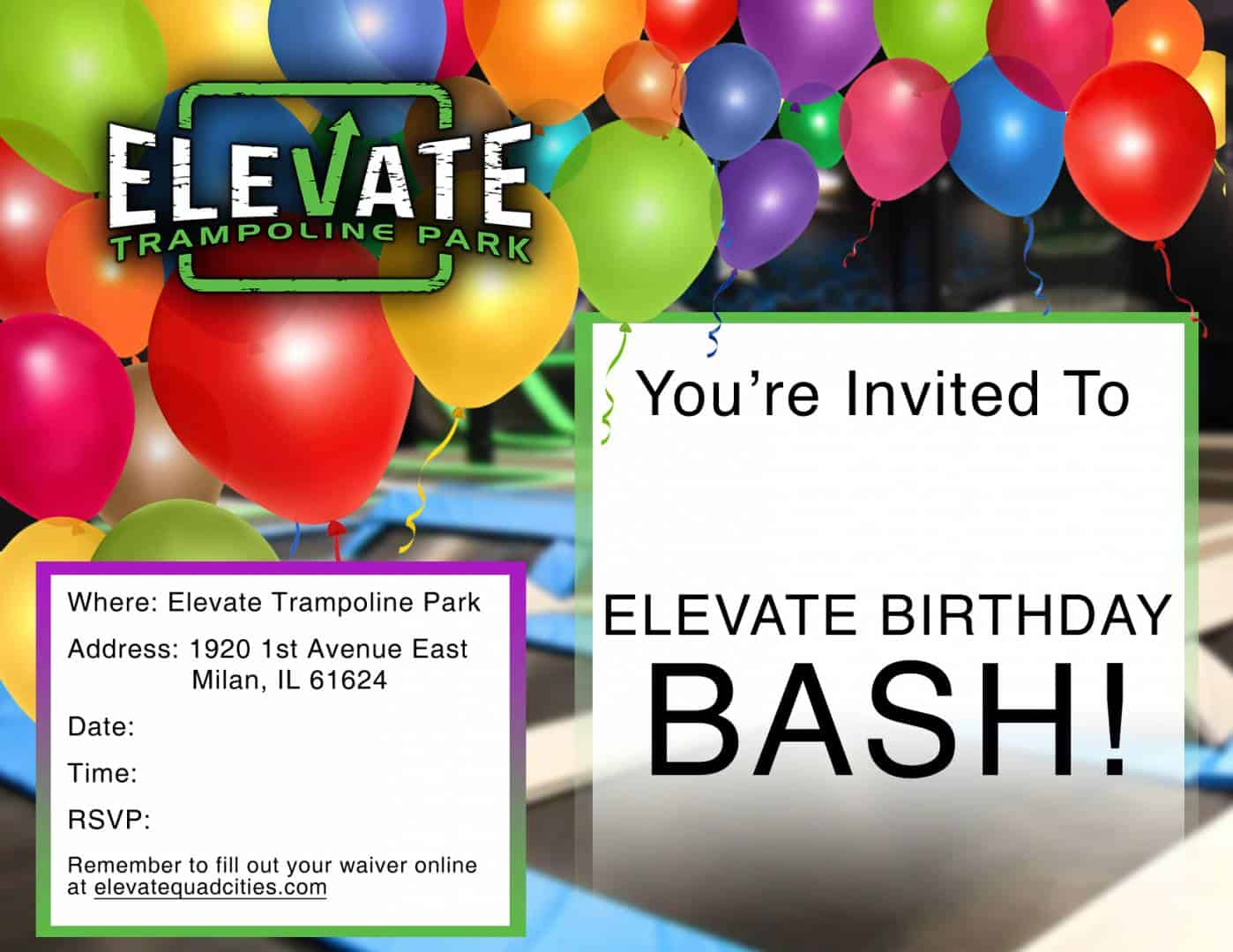 Elevate Birthday Flyer - Quad Cities